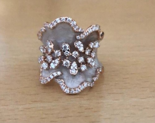 Pearl Enamel Ring